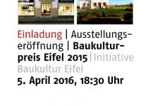Ausstellung Baukulturpreis Eifel 2015 im Zentrum Baukultur in Mainz